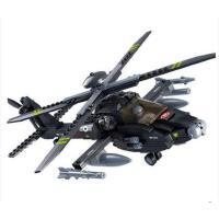 小鲁班积木 军事拼装阿帕奇积木模型男孩儿童积木益智玩具