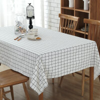 家居用品 布艺工艺品酒店餐桌桌布 简约家用茶几台布 涤棉