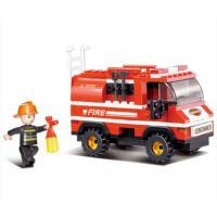 小鲁班 创意经典拼装轻型消防车积木模型儿童益智