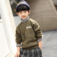 童装男童卫衣冬装中大童带帽上衣儿童