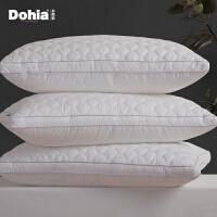 多喜爱全棉枕头家用一对装单双人枕芯颈椎枕安睡立高学生纤维枕