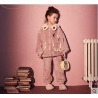 秋冬女童睡衣珊瑚绒儿童宝宝睡衣法兰绒儿童睡衣女