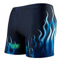 游泳训练修身男士平角泳裤性感舒适速干个性男式泳衣批发 XL 【120-140斤】