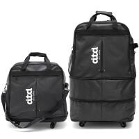 拉杆包旅行包航空托运包大容量出国旅行包牛津布旅行箱折叠行李箱女托运箱 黑色 32寸