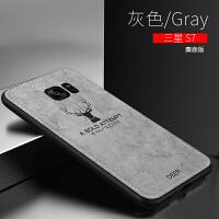 三星s7手机壳曲面屏e+手机保护壳软布纹Galaxys7软硅胶套s7e全包防摔壳s7e外壳创意个性 三星s7[麋鹿]-