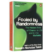 正版现货 随机漫步的傻瓜 英文原版 Fooled by Randomness 黑天鹅作者塔勒布 金融投资参考 英文版原