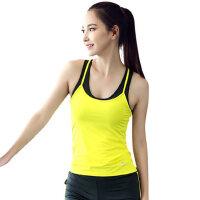 瑜伽背心女带胸垫运动跑步吊带衫打底上衣修身健身上装