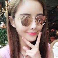 太阳镜女潮个性眼镜明星款墨镜圆脸墨镜防紫外线眼睛简约
