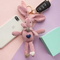 兔公仔钥匙扣挂件创意个性可爱男士女款情侣锁匙扣链圈环包包挂饰