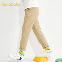 【品类日4件4折】巴拉巴拉童装男童裤子儿童运动裤2021新款春装中大童工装裤百搭潮