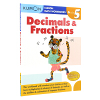 Kumon Math Workbooks Decimals & Fractions Grade 5 公文式教育 小学五