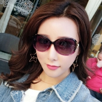 新款女士偏光太阳镜圆脸墨镜女潮明星同款时尚眼镜驾驶开车眼镜