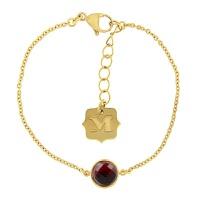 Krystle penza设计师MVintage 宝石系列-热情红色玻璃手链Passion Bracelet, Red