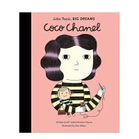 【预售】【小人物,大梦想】香奈儿Coco Chanel 3-6岁儿童美术音乐启蒙彩图英文艺术绘本 早教学前教育人物故事