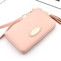 新款钱包女士中长款时尚韩版女式钱夹流苏拉链手拿女包多卡位卡包