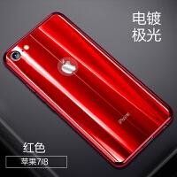 同款苹果X手机壳新款男女7plus网红潮牌iphone8玻璃6s创意七