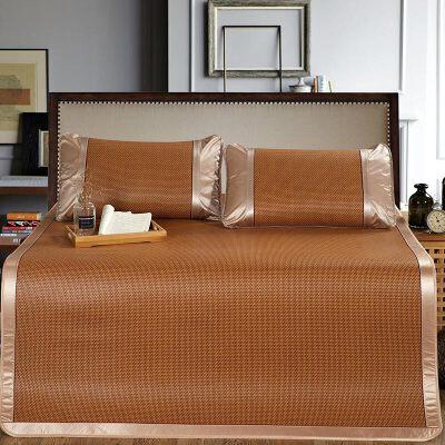 凉席三件套藤席1.8m床1.5米席可折叠夏季1.2单人空调席子