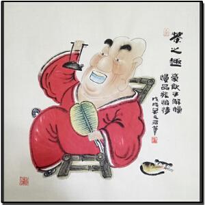 《茶之趣》豪饮可解燥 慢品能怡情,山西省漫画学会副会长 新华社签约画家 (吴元R4)