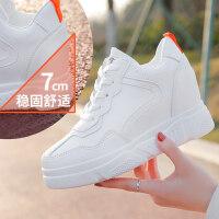 内增高小白潮鞋女2019春季新款厚底百搭白鞋增高网红运动鞋子春款