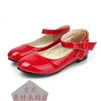 一字罗马单鞋淑女公主鞋糖果色表演校制服学生红黄粉色亮漆皮圆头单鞋跳舞单鞋柔软舒适时尚潮款