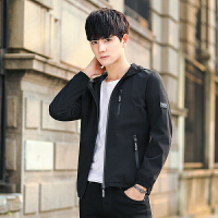 秋冬夹克外穿青春流行修身纯色上衣潮韩版外套男士男装长袖