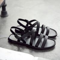 夏季新款罗马凉鞋男潮流休闲韩版潮流平底英伦男士沙滩鞋