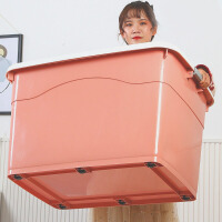爆款收�{箱塑料特大�棉被衣服透明整理箱加厚收�{盒�ξ锵�