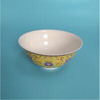 瓷器送朋友古玩粉彩缠枝莲花碗仿古工艺礼品 高6.3CM