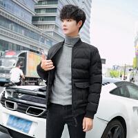 棉衣男冬季2018新款韩版修身羽绒加厚棉袄冬天短款男士外套潮