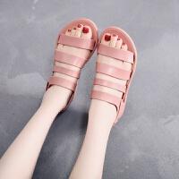 2019夏季新款凉鞋女平底塑料海边沙滩鞋防水胶鞋韩版学生百搭