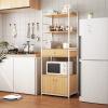 厨房置物架落地多层家用调料收纳架台面双层烤箱微波炉架子置物架