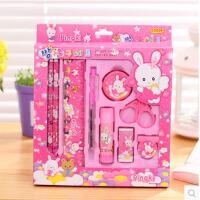 文具玩具套装 儿童文具礼盒9件套 小学生文具用品礼品