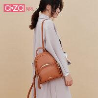 【立减100】aza2019新款女包韩版迷你小书包ins百搭的软皮双肩包时尚休闲背包