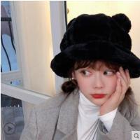 渔夫帽贝雷帽 冬天保暖ins秋冬季少女韩版潮可爱耳朵兔毛小熊帽子