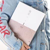 韩国文具小清新大号厚胶套本 A4大笔记本本子本加大学生可爱日记本 记事本