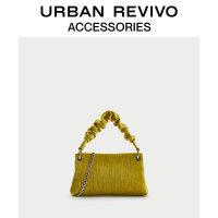 URBAN REVIVO2020冬季新品女士配件褶��赓|手提包AY42TB1N2002