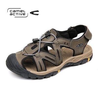 骆驼动感(camel active)牛皮包头凉鞋 男士户外休闲鞋沙滩鞋