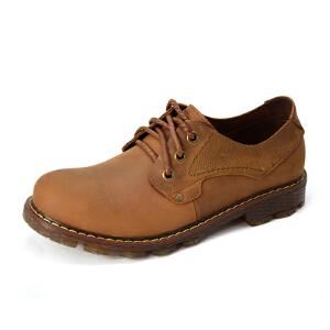 德国骆驼动感男鞋透气户外休闲鞋真皮大头鞋牛筋底低帮工装鞋