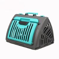【包邮】宠物航空箱 便携折叠 户外旅行宠物包 手提小狗猫笼 湖蓝色