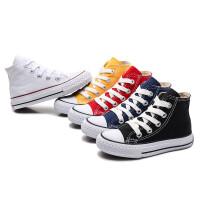 春季儿童帆布鞋高帮男童休闲板鞋休闲鞋小白布鞋