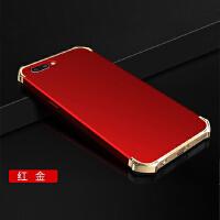 BaaN OPPOR11手机壳OPPOR11保护套防摔全包边防指纹电镀三段硬壳 红金色