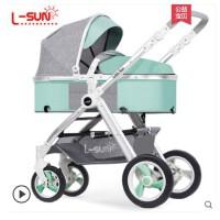 婴儿推车可坐可躺可平躺夏季双向便携高景观手推车轻便折叠