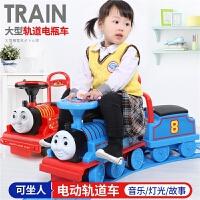 越诚小火车头套装轨道车电动小汽车儿童玩具男孩1-3岁可坐4 满月周岁生日礼物六一圣诞节新年礼品