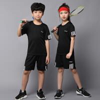 儿童羽毛球服套装女童乒乓球网球衣服长袖速干秋冬男童跑步运动服