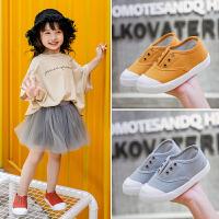 儿童帆布鞋男童春秋款低帮软底一脚蹬小童鞋宝宝鞋
