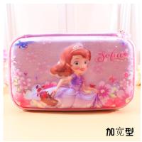 小学生笔袋女童迪士尼公主苏菲亚儿童文具盒韩国笔盒大容量铅笔袋3D立体 防水易清洗