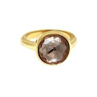 Krystle penza设计师MVintage 宝石系列-爱情粉色玻璃戒指Love Ring, Dainty Pin