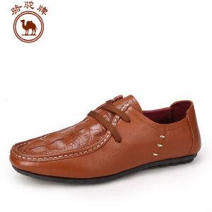 骆驼牌男鞋 春夏新款 头层牛皮 日常休闲皮鞋舒适耐磨