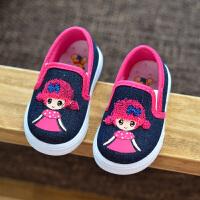 201908220619237822019春夏季新品宝宝鞋单鞋防滑软底女童方口布鞋婴儿软底学步鞋公主鞋帆布鞋纯白表演鞋