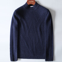 №【2019新款】冬天穿的商务绅士蓬松点子纱羊绒 男士加厚半高领衫